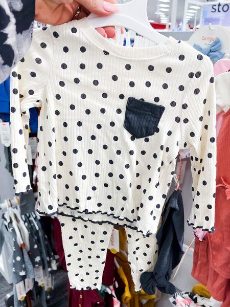 Polka dot ribbed two piece with headband sizes 0-18 month   #LTKbaby #LTKSeasonal