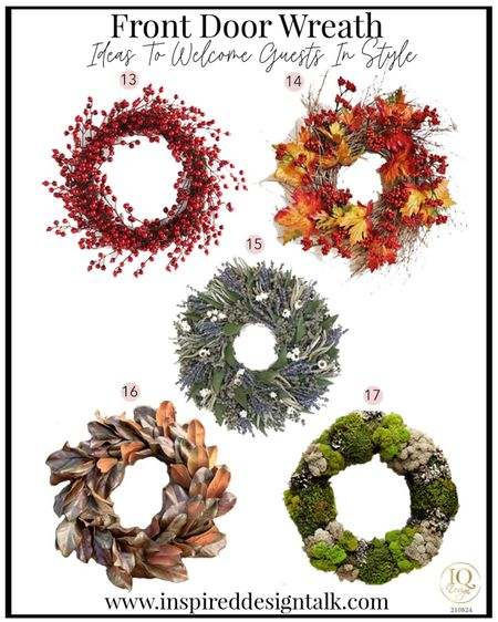 Update your front door with a trendy seasonal front door wreath.   Holiday decor, home decor, patio decor, Christmas decor, fall decor, back to school, herb wreath, moss Wreath, fall inspiration, holiday home decor, Walmart finds, target finds  You can instantly shop my looks by following me on the LIKEtoKNOW.it shopping app   #LTKSeasonal #LTKunder100 #LTKhome