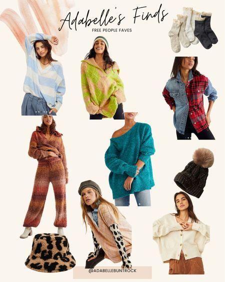 Free people set sweater beanie hat socks bucket hat plaid shirt  #LTKSeasonal #LTKunder100 #LTKunder50