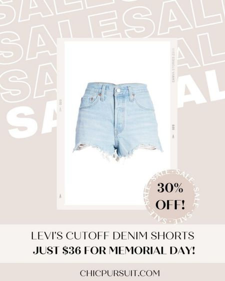 SALE ALERT! These classic Levi's denim shorts under $50 are 30% in the Nordstrom half yearly sale! PLUS LEVI'S has 30% off EVERYTHING on their site!!! / Memorial Day sales #LTKsalealert #LTKSpringSale #LTKunder50 @liketoknow.it http://liketk.it/3giC0 #liketkit