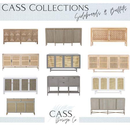 Dining room decor Cabinet Sideboard  Cane cabinet  Coastal style  Coastal home Coastal decor Dining room furniture