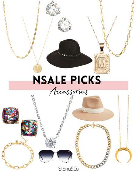 NSale jewelry and accessories / quay / gold necklace / straw hat / fedora / kate spade earrings / diamond earrings http://liketk.it/3jrtT #liketkit @liketoknow.it   #LTKsalealert #LTKstyletip #LTKunder50