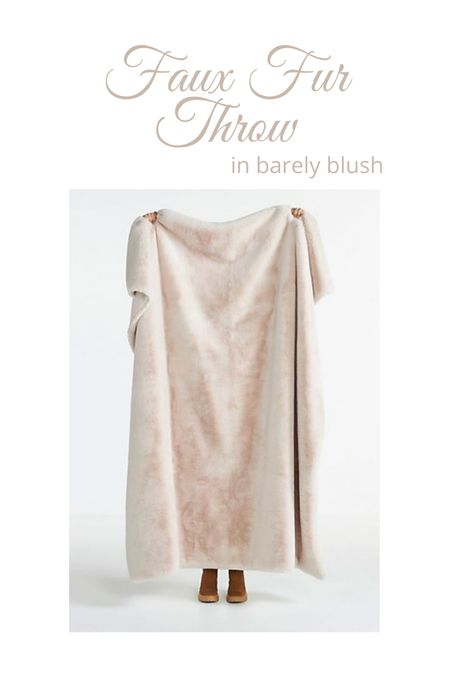 Sophie Faux Fur Throw in blush on sale!  It also comes in white and soft gray! (I have both) 😍 Fall decor, throw blanket, home decor    #LTKhome #LTKunder100 #LTKsalealert