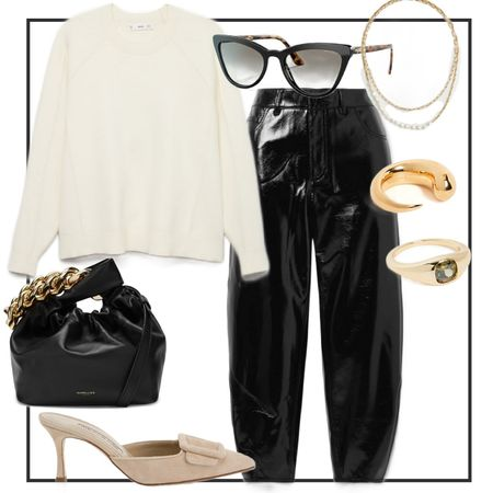 Styling patent leather pants - outfit inspo! #LTKstyletip