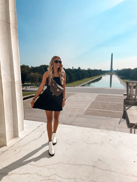 The most perfect little black dress and booties for a fall day in Washington DC  #LTKSeasonal #LTKtravel #LTKunder100