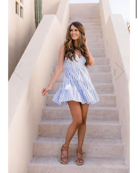 Blue seersucker midi dress, spring dresses, summer dresses #liketkit @liketoknow.it http://liketk.it/39MzI