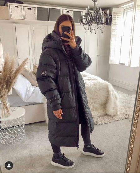 The perfect long black puffer coat for winter ! Now back in stock at adidas ! The best thing I bought last year!   #LTKstyletip #LTKSeasonal #LTKeurope
