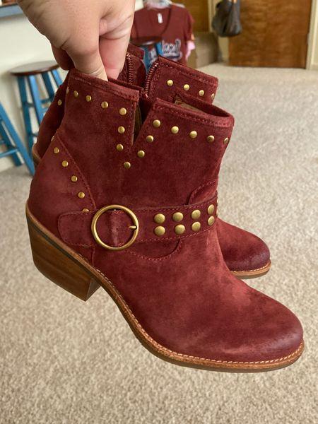 Nordstrom sale booties. Western booties. Red boots. So cute, comfy! If in between sizes, size up!   #LTKsalealert #LTKshoecrush #LTKunder100