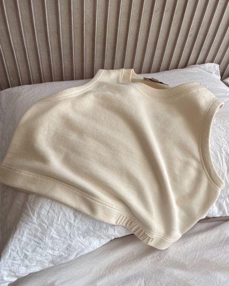 AllSaints Lila Crop Sweater Top   cute cropped sweatshirt tank   all saints   neutral summer top   high neck sweater tank top   sleeveless shirt   street style 2021 http://liketk.it/3er14 #liketkit @liketoknow.it #LTKunder100 #LTKstyletip #LTKfit