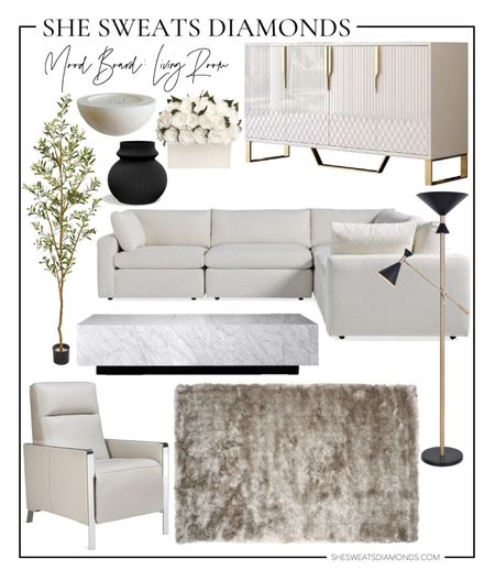 Sharing my neutral modern living room mood board as I start slow decorating!   #LTKhome