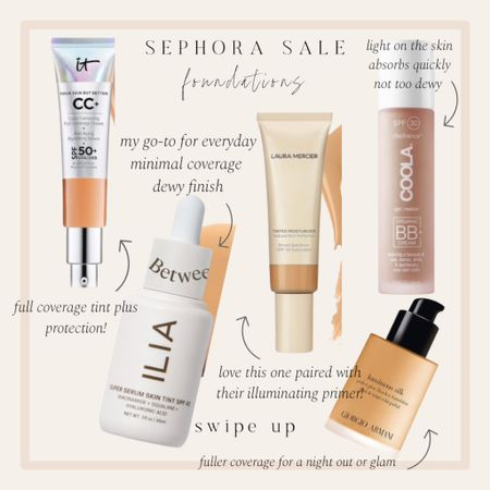 Best foundations from the Sephora sale http://liketk.it/3cZNb #liketkit @liketoknow.it #LTKbeauty
