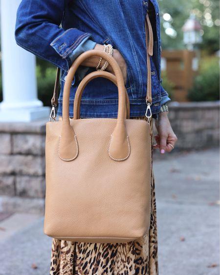 Love this camel leather tote! Wear it as crossbody or as a shoulder bag!   #LTKworkwear #LTKSeasonal #LTKitbag