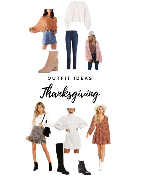 Thanksgiving outfit ideas! We love dressing up for thanksgiving and can't wAit to do it again this year! http://liketk.it/30MEE #liketkit @liketoknow.it #LTKunder100 #LTKstyletip #LTKshoecrush tweed skirt dress sweater sweater dress jeans joes jeans booties boots fall style fall fashion