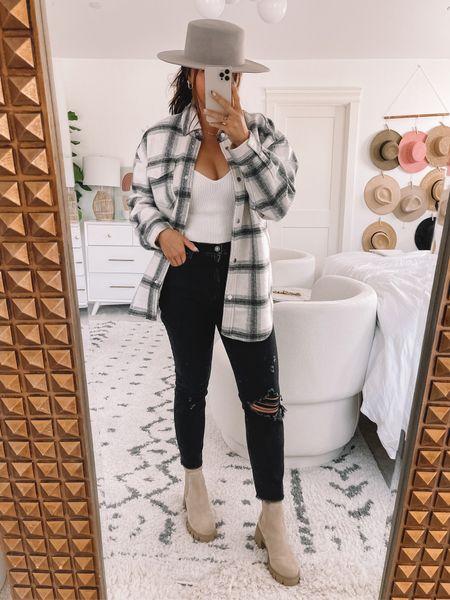 Abercrombie skinny jeans - tts size down Bodysuit - medium Shacket - large  Abercrombie denim, fall outfit, family photos, fall family photos   #LTKSale #LTKsalealert #LTKshoecrush
