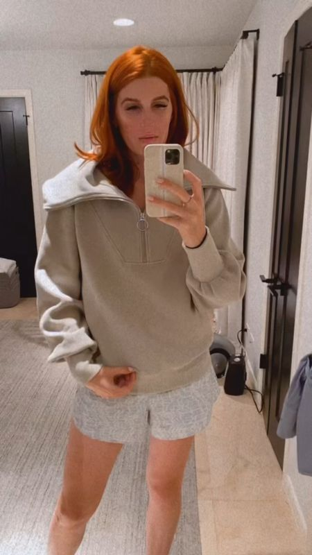 Adding to my workout capsule with this Varley sweatshirt, wearing a size small in everything. Size up if you are fuller chested!!   #LTKfit #LTKshoecrush #LTKstyletip
