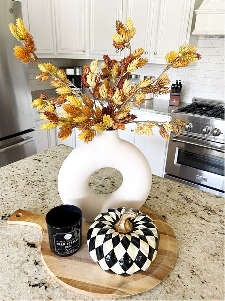 These Fall faux stems have been restocked and are only $5! I have 3 in this vase.   #LTKsalealert #LTKhome #LTKHoliday