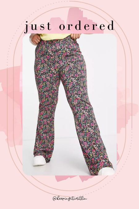 Floral flare pants plus size. But they come in regular, tall, petite, and maternity. 🙌🏻  #LTKstyletip #LTKcurves #LTKunder50