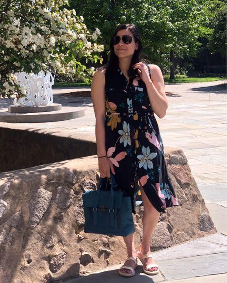 Shared this outfit on the blog last week. This dress is definitely a Spring/Summer staple!    http://liketk.it/3gAYI #liketkit @liketoknow.it #LTKshoecrush #LTKstyletip #LTKitbag