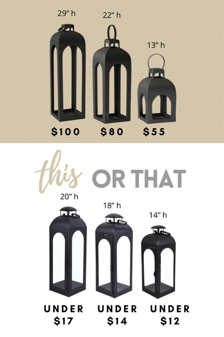 How about some beautiful lanterns for your porch! I cannot believe that some of these are under $20! Perfect for decorating your garden, front entry or outdoor entertaining spaces! #under20 http://liketk.it/3dcJ6 #liketkit @liketoknow.it