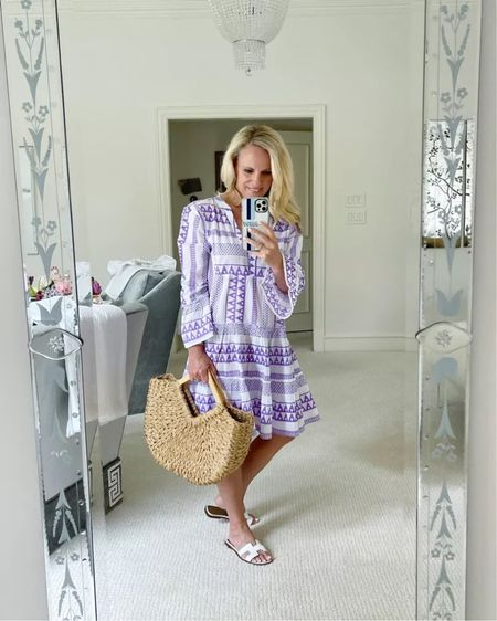 This lavender dress is part of my recent  July Favorites with Tuckernuck post. I love the fit and it is the perfect piece to pack for a last minute summer getaway. Paired with my tried and true white slides. I am wearing XS.  #LTKshoecrush #LTKtravel #LTKstyletip