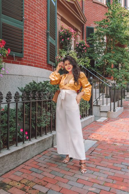Brightening up the Monday blues 💛Just found THE best wide leg trouser pants for summer, perfect to style up or down! (Under $25) . . Shop the look  1️⃣ http://liketk.it/3l01e 2️⃣ link in bio   #amazonfashion #founditonamazon   #LTKsalealert #LTKstyletip #LTKunder50