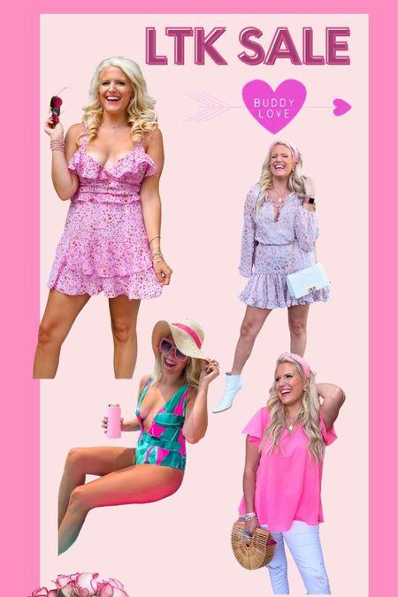 Pink top size m Pink dress size L Buddy love swimsuit size L Leopard dress size L 25% off with code LTKBUDDY Summer dress One piece swimsuit summer outfit workwear top http://liketk.it/3hn66 #liketkit @liketoknow.it #LTKDay #LTKswim #LTKsalealert