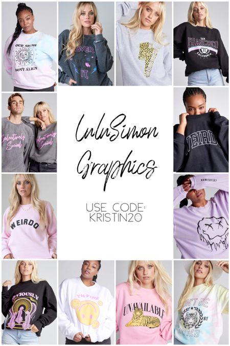 LuluSimon Graphics  Use code: kristin20    #LTKstyletip #LTKGifts #LTKunder100
