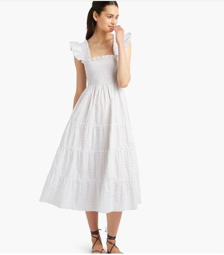 Nap dresses white summer dress hill house home preppy grandmillennial classic ruffle smocked dress wedding guest dresses   #LTKwedding #LTKSeasonal #LTKunder100