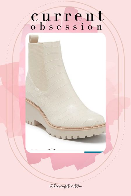 Dolce vita booties on sale! White booties   #LTKshoecrush #LTKunder100 #LTKsalealert
