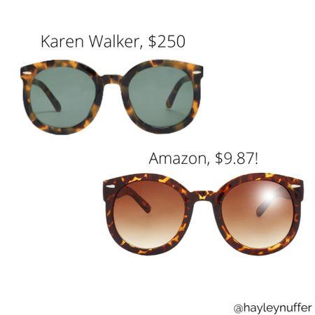 Karen Walker vs Amazon fashion find dupe Sunglasses look for less http://liketk.it/3e4Yq #liketkit @liketoknow.it