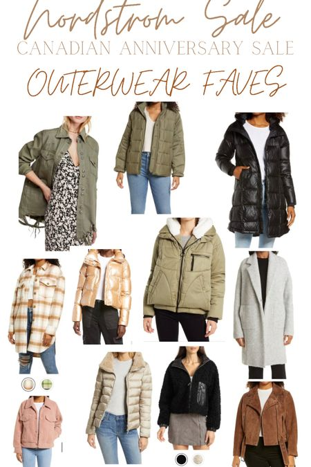 Nordstrom anniversary sale- Canadian edition! Outerwear faves! Fall jackets, winter coats, blazers and fun Sherpas! http://liketk.it/3k4ce #liketkit @liketoknow.it #LTKsalealert #LTKstyletip #LTKunder100