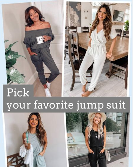 Pick your favorite Pink Lily jumpsuit! These jumpsuits are perfect to slip on for a relaxing morning! Click here to shop Pink Lily now! http://liketk.it/38WS5 #liketkit @liketoknow.it #LTKstyletip #StayHomeWithLTK #LTKSeasonal Follow me on the LIKEtoKNOW.it shopping app to get the product details for this look and others