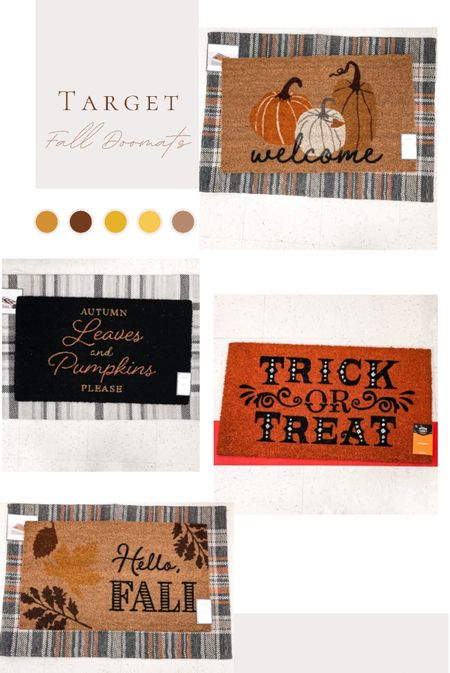 Target run today and saw all these cute fall door mats for $13.00 or less! 🙌.   I'm loving the layered look.  Which is your favorite - 1, 2, 3 or 4?    #LTKhome #LTKunder50 #LTKSeasonal