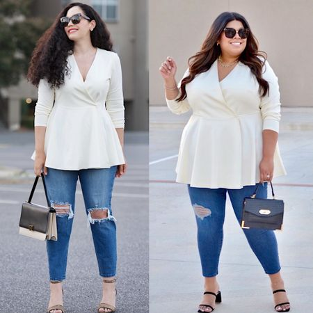 #peplum #blazer #curvy #fashion #plussize
