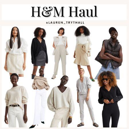 H&M fall fashion haul, fall outfits, h&m, sweater, sweater dress, fall looks, pants    #LTKunder50 #LTKstyletip #LTKSeasonal