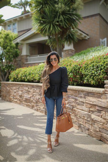 http://liketk.it/3fG4c @liketoknow.it #liketkit  beach vacation, summer fashion, jeans, best jeans 2021, sunglasses, sunglasses guide, Emily Ann Gemma, one shoulder top