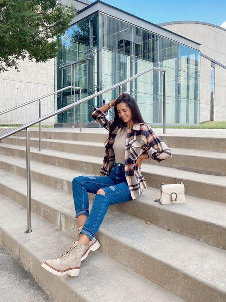 Nordstrom Anniversary Sale  Plaid jacket, jeans, fall outfit, fall style, myviewinheels   #LTKshoecrush #LTKunder50 #LTKsalealert