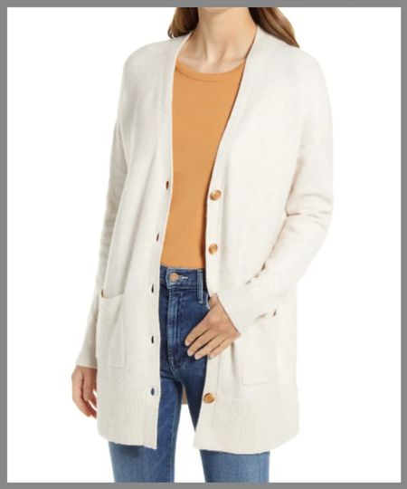 Cozy cardigan in the Nordstrom anniversary sale. Knit button front cardigan great for an extra layer of warmth or around the house or doing chores outside.  #LTKSeasonal #LTKsalealert #LTKunder50