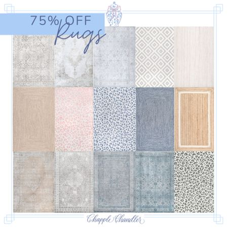 Rugs on sale 75% off rugs area rug wool rug oriental patterned vintage weathered medallion jute sisal braided leopard cheetah spotted ivory tan blue pink   #LTKhome #LTKunder100 #LTKsalealert