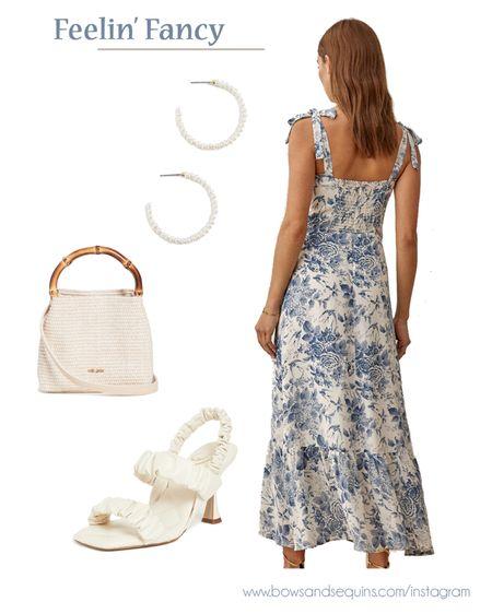 Feelin' fancy 🤩 I love this toile print dress SO much! Fun for wedding season and beyond. #weddingguest   #LTKshoecrush #LTKstyletip #LTKwedding