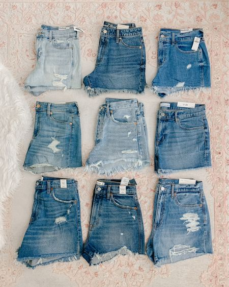 My favorite jean shorts! Linked them in order of preference based on overall fit and feel. Target by far had the better denim shorts for the price point!  Agolde shorts are my number one fave. They're more expensive, but it's the only jean shirt I reach for year after year! I sized down to a 27. I have a full video on my YouTube channel trying on and reviewing all of these jean shorts (search Amanda John on YouTube)  http://liketk.it/2PpMJ #liketkit @liketoknow.it #LTKsalealert #StayHomeWithLTK