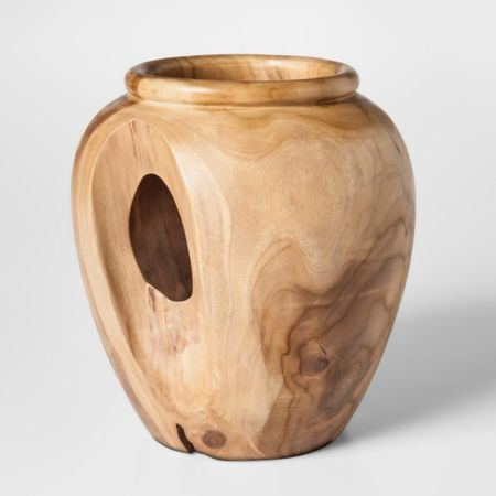 Omg! This teak wood vase is so special! And it's from target so you know it's super affordable! #liketkit http://liketk.it/3jUCP @liketoknow.it #LTKunder50 #LTKeurope #LTKhome @liketoknow.it.home Shop your screenshot of this pic with the LIKEtoKNOW.it shopping app