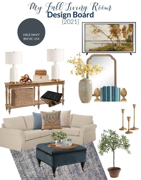 Fall decorating is in full swing at my house. So before I get too carried away, I thought I'd share my fall decor plans for the living room.