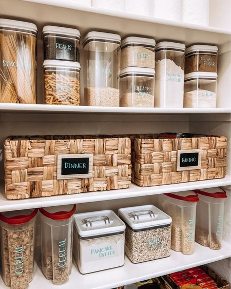 Organization is one of my favorites because it always looks so nice, but it also makes our spaces so functional & inspires us to enjoy our home each day! Here's a few of my favorite things from my recent pantry makeover!! http://liketk.it/3k5Bf #liketkit @liketoknow.it #LTKhome #LTKunder50 @liketoknow.it.home You can instantly shop my home by following me on the LIKEtoKNOW.it shopping app