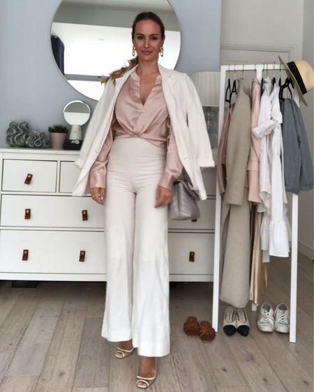 White suit, white linen, linen suit, summer suit, summer outfit inspo, pink silk, silk blouse, workwear, office wear, elegant style, timeless style   http://liketk.it/2Qotk #liketkit @liketoknow.it #LTKworkwear #LTKsalealert #LTKeurope @liketoknow.it.europe