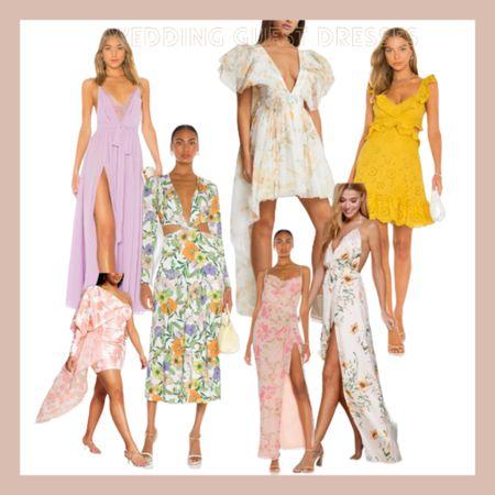 Summer wedding guest dresses Maxi dress, yellow, floral, high low , bridal, cutout,   #LTKwedding #LTKstyletip #LTKSeasonal