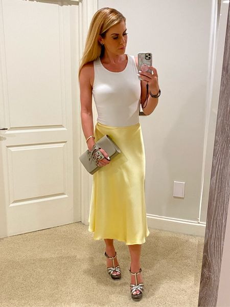 #satinskirt #silkskirt #bodysuit #corsetclutch http://liketk.it/3h4HH #liketkit @liketoknow.it  #vacationoutfits #vacationtraveloutfits #maxidress #summeroutfits #weddingguestdress    #LTKunder100 #LTKwedding #LTKworkwear