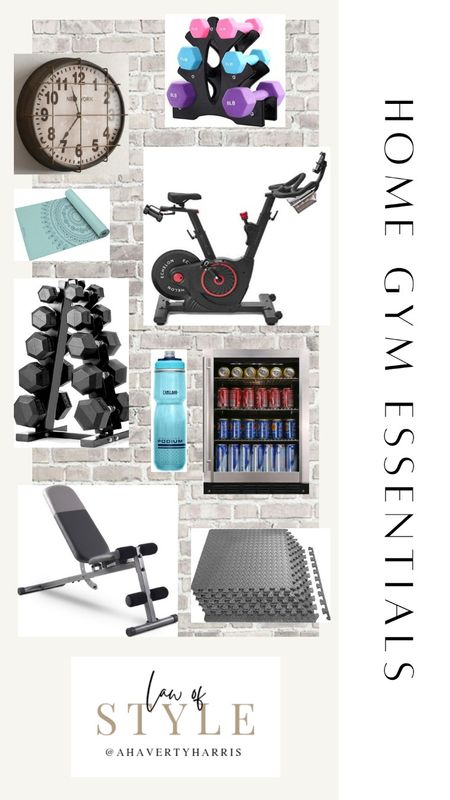 2020 taught us that we definitely needed a home gym.  The actual gym isn't complete,  but we've got all of the essentials and LOVE the convenience of  working out at home 🙌  Home gym,  home gym essentials, gym essentials,  free weights,  weight rack, beverage cooler, water bottle,  spoon bike,  best water bottle, gym for,  floor mat, yoga mat,  yoga,  fitness hand weights, click,  gym clock,  caged clock, peloton, walmart,  walmart home,  Amazon,  Amazon home #LTKhome #ltkunder50 #ltkfitness     #LTKhome #LTKfit #LTKunder100