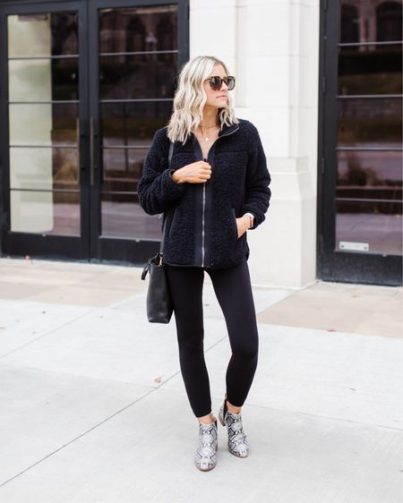 Love an all black look but love these leggings even more! True to size, I'm wearing small. And I've linked a similar style by the same brand available at Target for $30! http://liketk.it/2Kksh @liketoknow.it #liketkit #LTKunder50 #LTKshoecrush #LTKstyletip #leggings