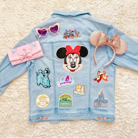 Spring denim Jean jacket Disney DIY tutorial! Shop all of these Disney iron on patches to style your very own denim jacket with all of your favorite characters and attractions from Walt Disney World! Jean jackets are perfect to wear year round in Florida because they're not super hot so you can definitely style them at the parks! I'm also sharing a few Disney accessories I styled mine with!✨This is also a great way to shop small! http://liketk.it/3g9ZS  #liketkit @liketoknow.it #LTKfamily #LTKkids #LTKcurves